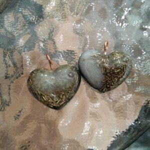 Belo-zlatni privezak srce